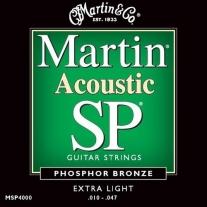 Martin MSP4000 SP Extra Light 10-47 Acoustic Guitar Strings
