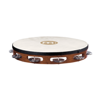 "Meinl TAH1AB 10"" Traditional Goat Skin Single Row Wood Tambourine"