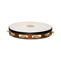"Meinl TAH1BAB 10"" Headed Single Row Brass Jingle Tambourine"
