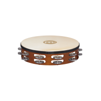 "Meinl TAH2A-AB 10"" Headed Double Row Aluminum Jingle Tambourine"