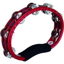 Meinl TMT1R Plastic Frame Tambourine Double Row Steel Jingles in Red