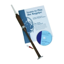 Mid East BAGL-BC Rosewood Practice Chanter in Black with Book & CD
