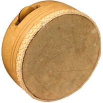Mid East KANF Khanjira Hand Drum with 1 Cymbal Set