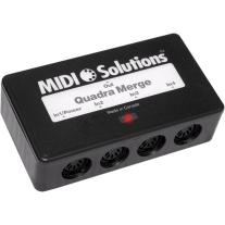 MIDI Solutions Quadra Merge 4 In 1 Out MIDI Merger