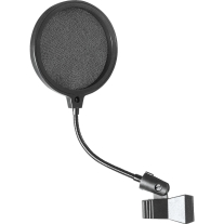 "On-Stage Stands Microphone Pop Filter with 6"" Gooseneck"