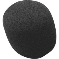 On Stage ASWS58B Foam Type Microphone Windscreen in Black