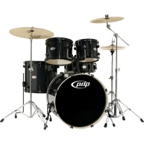 PDP Mainstage 5-Piece Drum Set with Sabian Cymbals in Black Metallic
