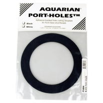 "Aquarian PHBK Bass Drumhead 5"" Port-Hole - Black"