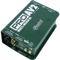 Radial ProAv2 PRO AV2 Passive Stereo Multimedia DI with RCA 3.5mm, XLR