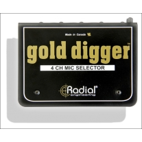 Radial Gold Digger Passive 4-Channel Mic Selector