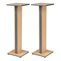 Raxxess ESS42-MSL Studio Speaker Stands in Maple