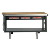Raxxess KBS1B 4U Rack for Studio Furniture in Maple