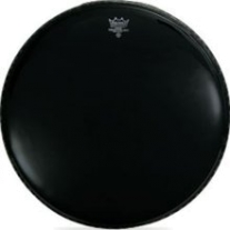 Remo Ebony Medium Weight 18 Black Batter Drumhead