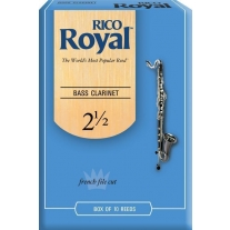 Rico Royal Bass Clarinet Reeds 10 Ct. 2.5 Strength