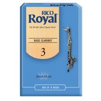 Rico Royal Bass Clarinet Reeds 10 Ct 3.0 Strength
