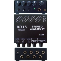 Rolls MX28 Mini-Mix VI Stereo Line Mixer