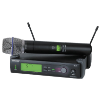 Shure SLX24 Beta87A UHF Freq Switchable Wireless System
