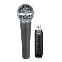 Shure SM58X2U Cardioid Dynamic Microphone with Signal Adaptor