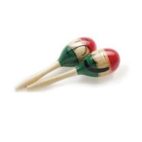 Stagg MWR26M Pair of Wooden Oval Maracas MEXICAN-Style