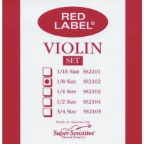 Super Sensitive SS2102 Red Label 1/8 Violin String Set