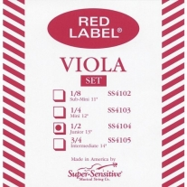 "Super Sensitive SS4104 Red Label Junior 13"" Viola String Set"