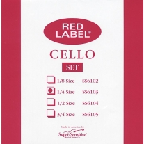 Super Sensitive SS6103 Red Label Medium Cello String Set 1/4""