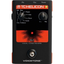 TC Helicon Voicetone R1 Pedal Vocal Tuned Reverb Pedal