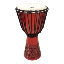 "Toca SDVR12 Synergy Series 12"" Djembe Drum in Red"