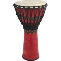 """Toca SFDJ10RP Synergy Freestyle 10"""" Djembe Drum in Red"""