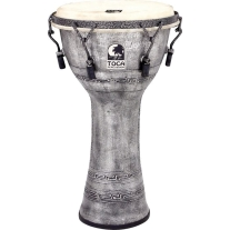 "Toca SFDMX10AS Freestyle Series 10"" Djembe in Antique Silver"