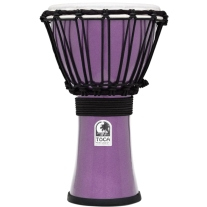 "Toca TFCDJ-7MV Freestyle Colorsound 7"" Djembe - Metallic Violet"