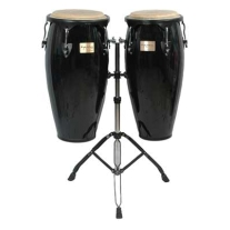 Tycoon Supremo Conga Drum Set with Stand in Black