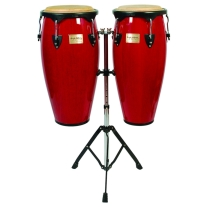 Tycoon Supremo Conga Set with Stand in Red Finish