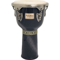 Tycoon Master Diamond Series 12In Djembe in Black Sparkle Finish