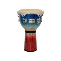"Tycoon TJP712CPF2 Masters Series 12"" Djembe Drum in Platinum Tri-Fade Finish"