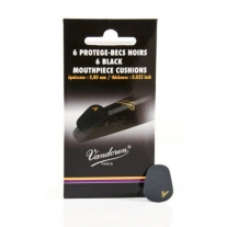 Vandoren VMCX6 6 Thick Black Mouthpiece Cushions
