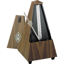 Wittner Maelzel Pyramid Plastic Metronome In A Simulated Walnut Wood Finish