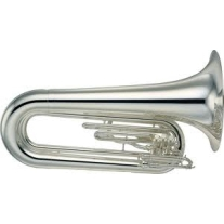 Yamaha YBB202MSWC Marching Tuba Silver Plated