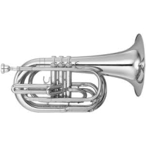 YamahaYBH301MS Marching Baritone Horn Bb Silver Plated