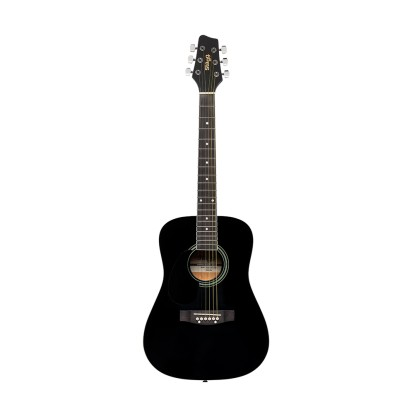 db0d004283d Stagg SA20D 3/4 Size Left Handed Acoustic Guitar in Black