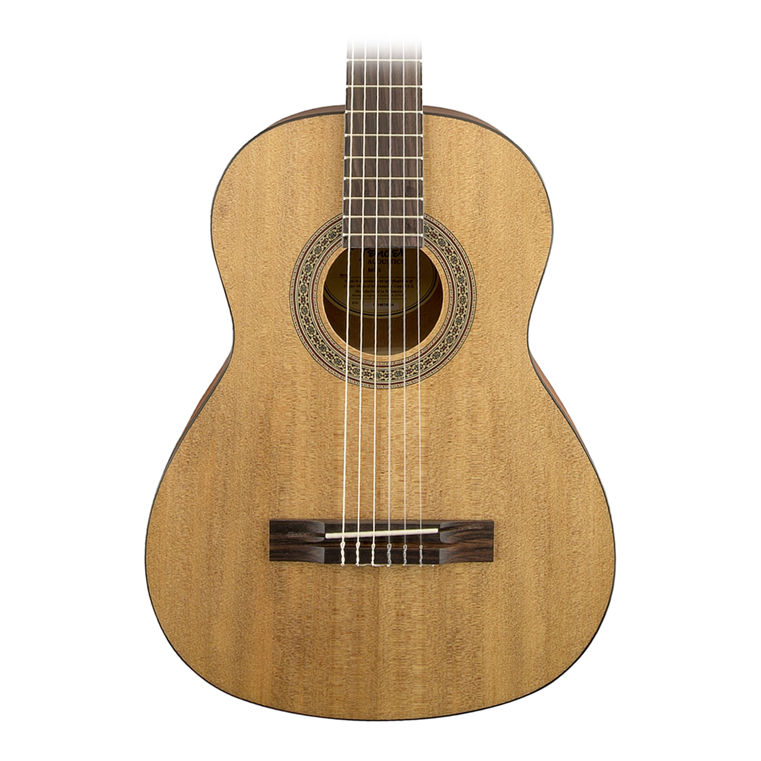 fender mc1 mini 3 4 size nylon string classical guitar ebay. Black Bedroom Furniture Sets. Home Design Ideas