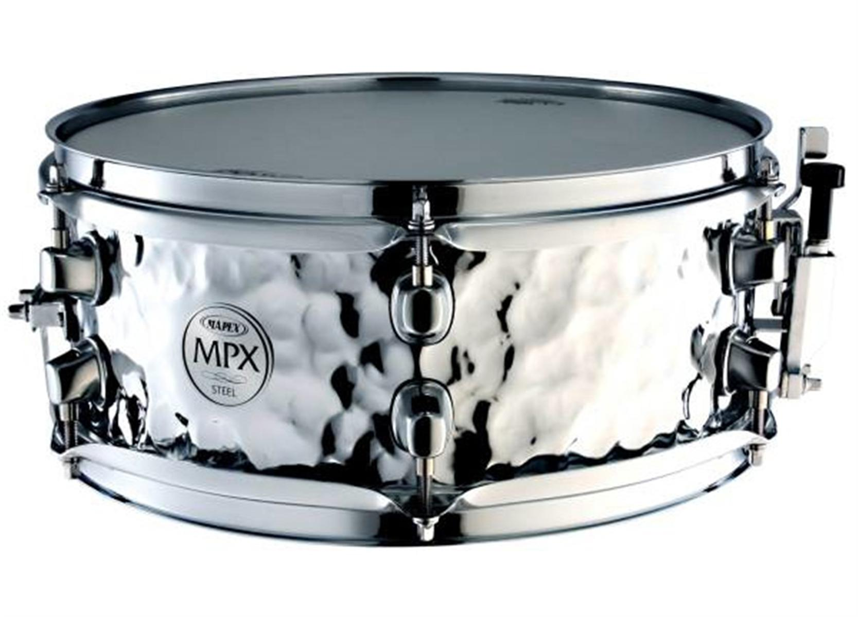 41c84142263f Mapex MPX 12x5 Hammered Steel Snare Drum