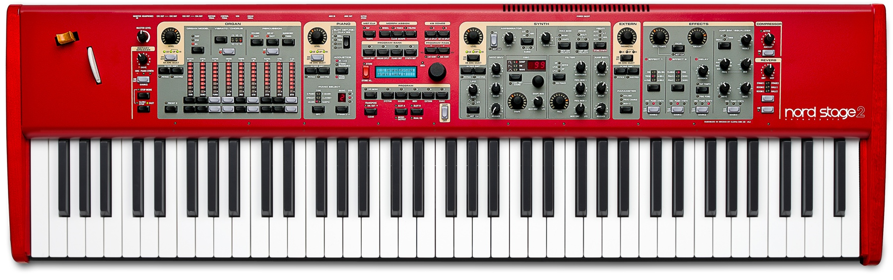 Nord stage 2 ex hp76 keyboard nstage2-ex-hp76 b&h photo video.
