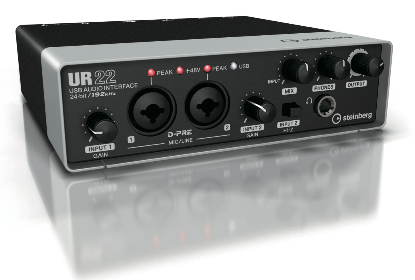 Steinberg Ur22 2 Channel Audio Usb Interface With Cubase Stereo Mixer For Microphone Channels
