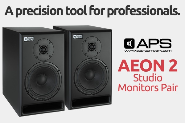 APS Germano Acoustics AEON 2 Studio Monitors Pair - Black